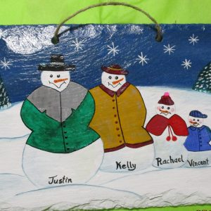 Hand Painted Christmas Scene on Newfoundland Slate